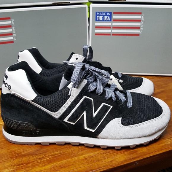 big sale a82a7 370df New Balance 574 USA Black White US574CM2 Running NWT